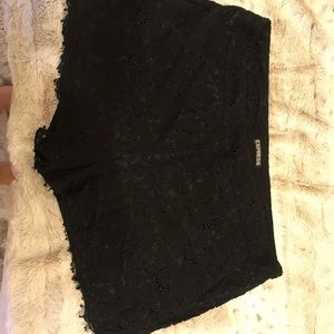 Express black lace shorts - like new condition